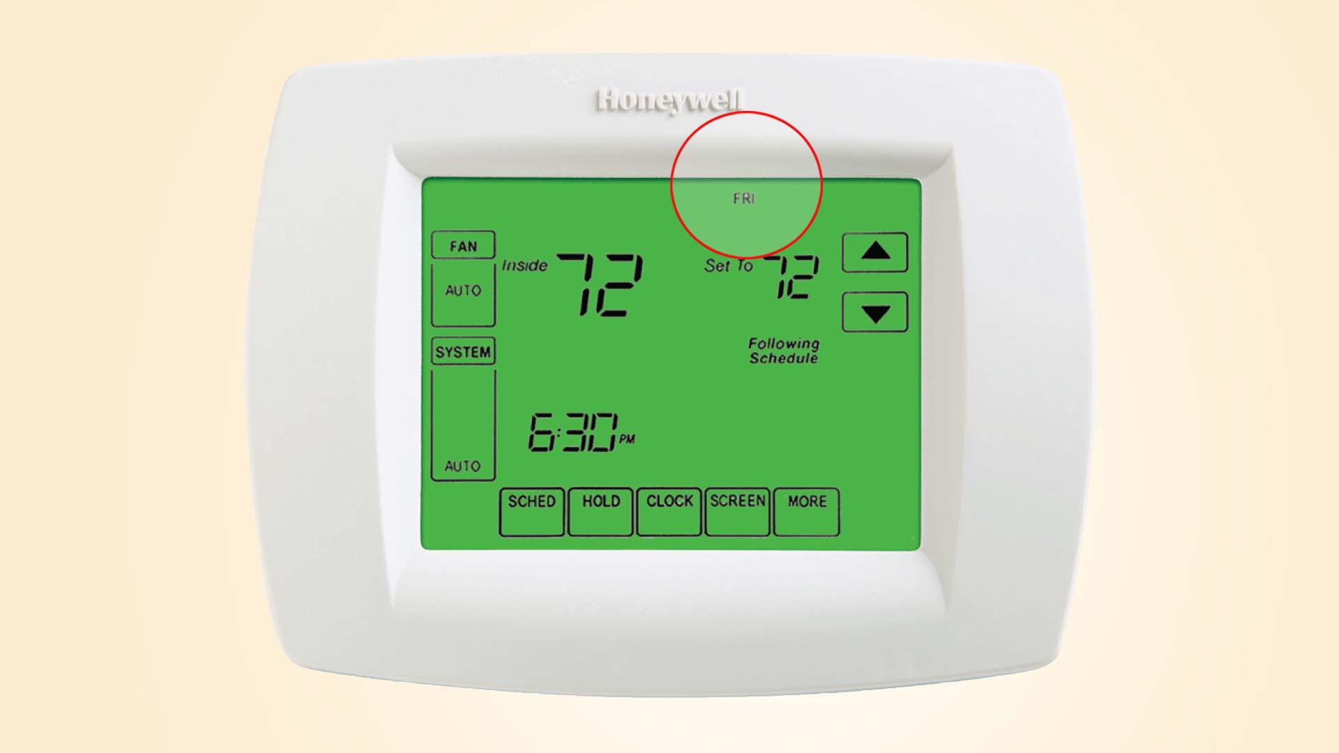 How To Change The Day For Honeywell Visionpro Thermostats