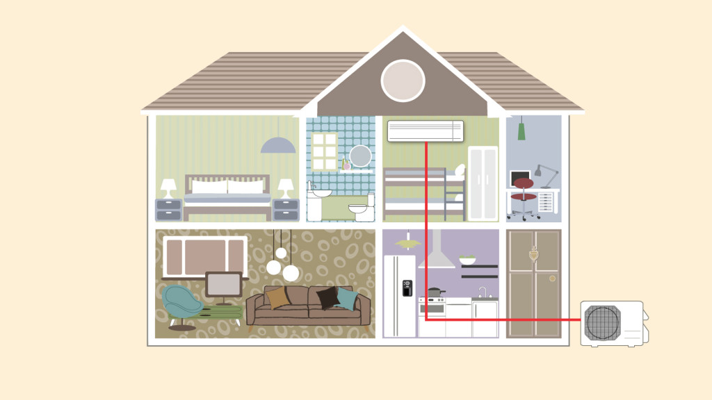 how air conditioners work diagram variable air volume