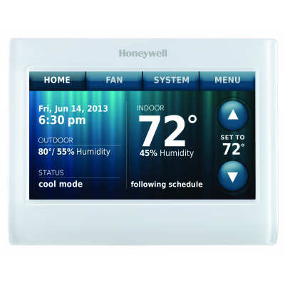 Wi-Fi 9000 Color Touchscreen 7 day programmable or Non-Programmable Thermostat - Color